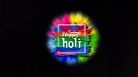 Holi - Festival of colour Affichage numérique (16:9) template