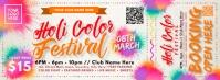 Holi Festival Ticket Template Portada de Facebook