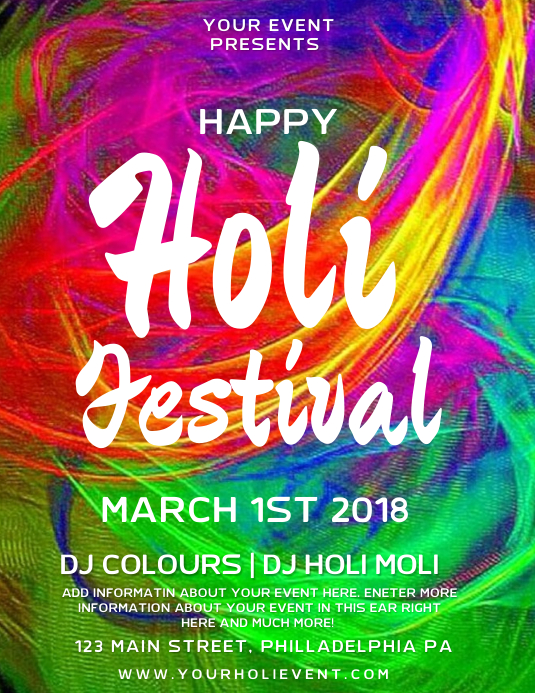HOLI Flyer (Letter pang-US) template