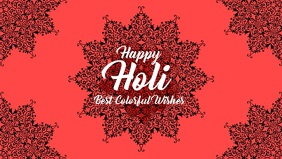 Holi greeting video poster template