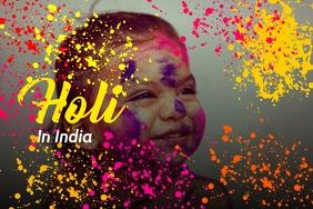 Holi India Festival poster template