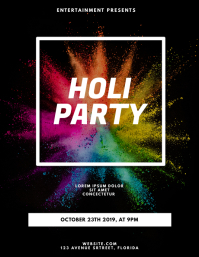 Holi party Flyer Design Template
