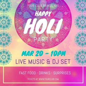 Holi Party Instagram Video