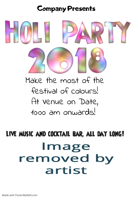 Holi Party Invitation Template | PosterMyWall