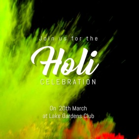 holi party template