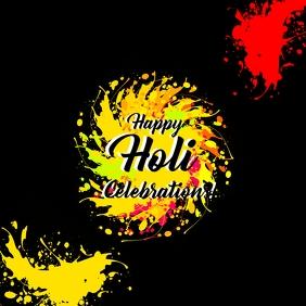 Holi premium color poster template