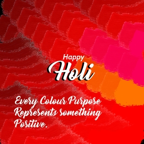 Holi Purpose with message poster template