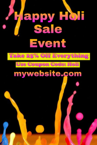 Holi Sale Event Flyer
