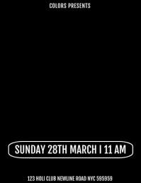 Holi Template Flyer (format US Letter)