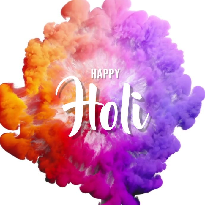 holi template Post Instagram