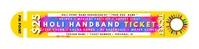 Holi Ticket HandBand Template Banner 2' × 8'