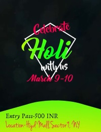 Holi Video Flyer