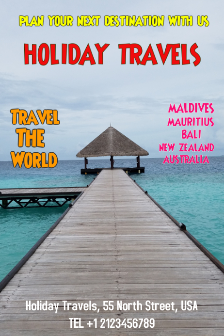 Holiday, Travel Flyer Poster