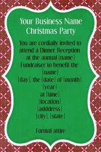 Holiday, Christmas Fundraiser, Dinner, Reception, Invitation