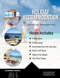 Holiday Accommodation Flyer Template