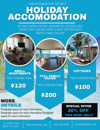 Holiday Accommodation to Rent Flyer template