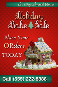 Holiday Bake Sale Poster template