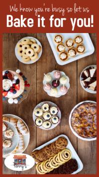 Holiday Baking story reel Historia de Instagram template