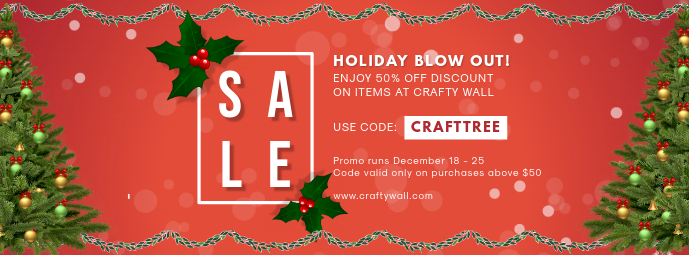 Holiday Blow out Sale Retail Banner Copertina Facebook template