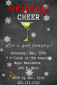 Holiday Cheer Cocktail Invite