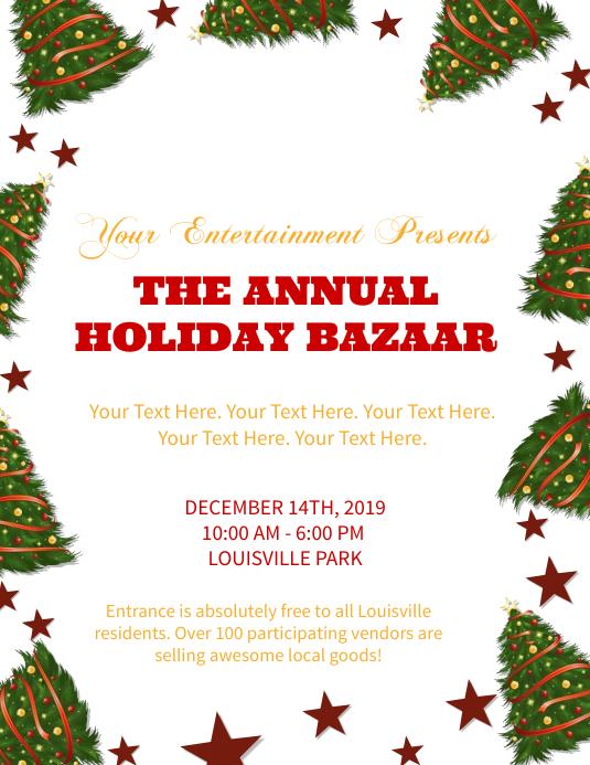 Holiday / Christmas Market / Bazaar Flyer