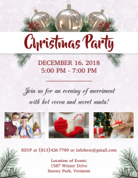 Holiday Christmas Party Flyer