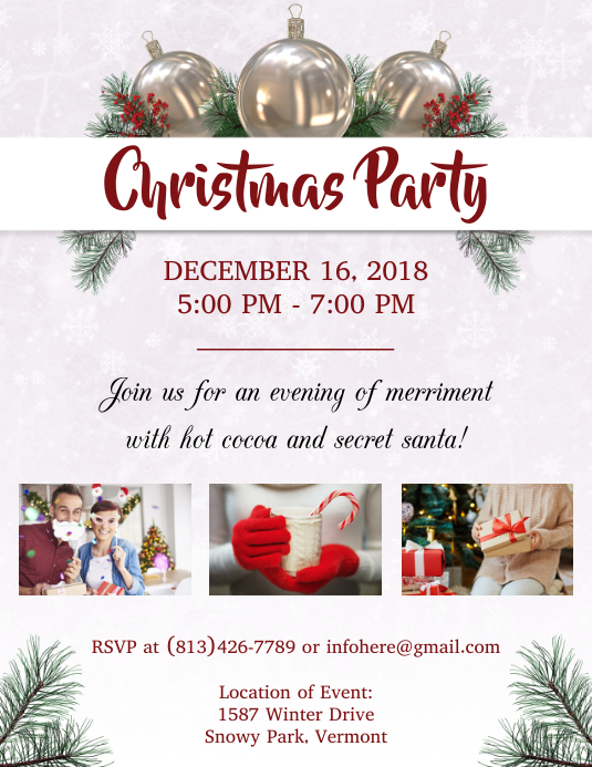 Christmas Party Flyer Template.Holiday Christmas Party Flyer Template Postermywall