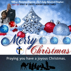 Holiday Church Christmas Flyer