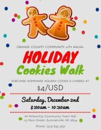 Holiday Cookies Walk Flyer
