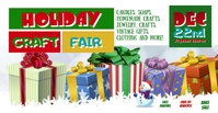 Holiday Craft Fair Facebook Event Template Facebook-gebeurtenisomslag
