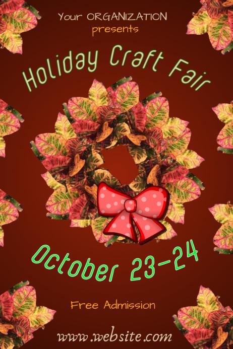 craft fair flyer