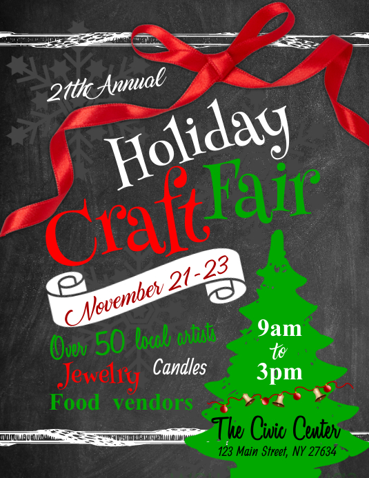 Holiday Craft Fair Flyer