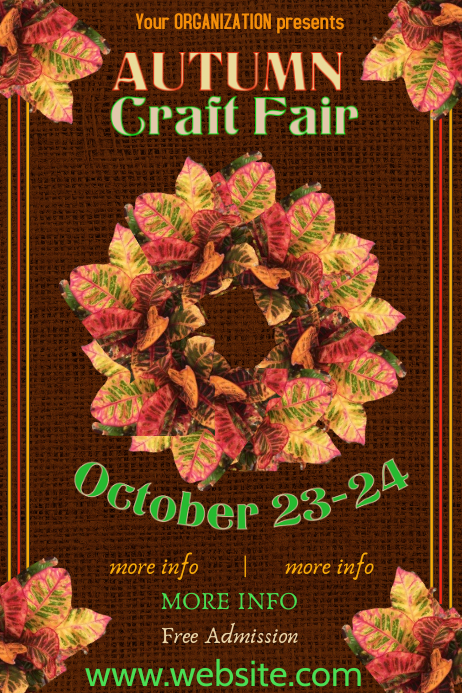 Holiday Craft Fair Poster Template Póster