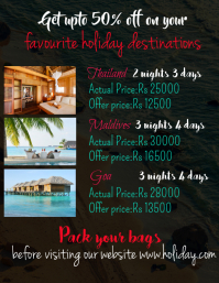 Holiday destinations Flyer