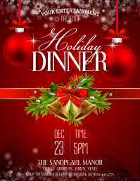 Holiday Dinner Flyer (US Letter) template
