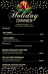 Holiday Dinner Menu