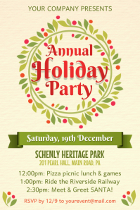 Holiday Event Poster Template · Holiday Party