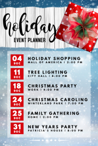 Holiday Event Planner Poster template