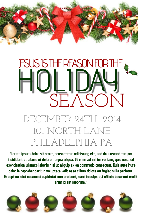 Holiday Flyer Template Postermywall