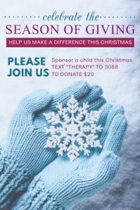 Holiday Fundraiser Event Invitation Poster