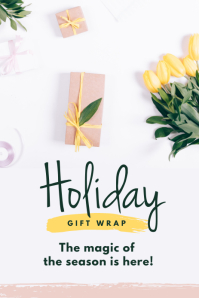 Holiday Gift Wrap Pinterest Templates