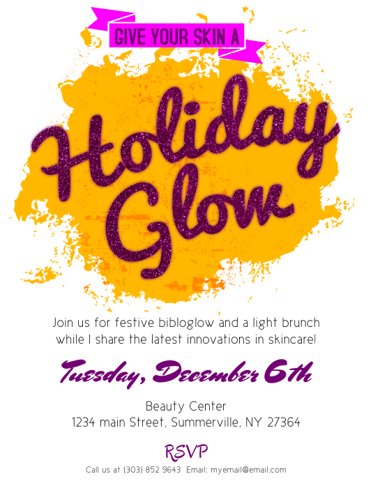 Holiday Glow Flyer