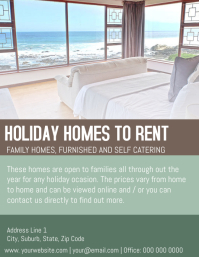 Holiday Homes/Accommodation Flyer Template