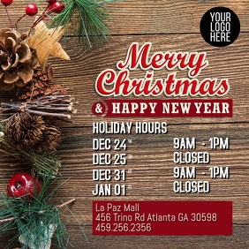 Holiday Hours Instagram Post template