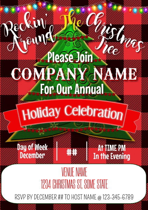 Holiday Invite A5 template