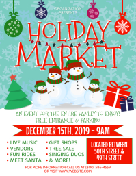 HOLIDAY MARKET Flyer (US Letter) template