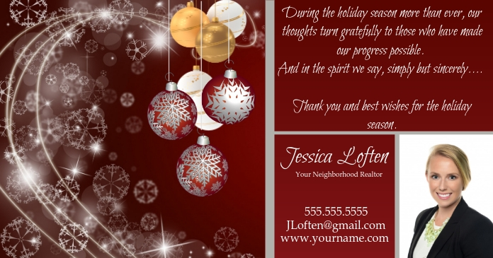 Holiday message to clients Facebook Shared Image template