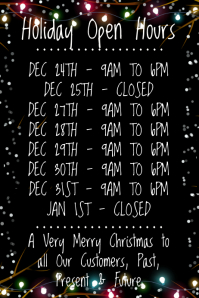 Holiday Open Hours Template