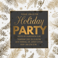 holiday party, christmas party instagram post template