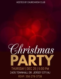 holiday party, christmas party video template